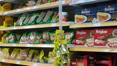 gôndola em supermercado