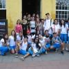 Os alunos do colégio MV vieram de Ubatuba-SP para participar da exposição