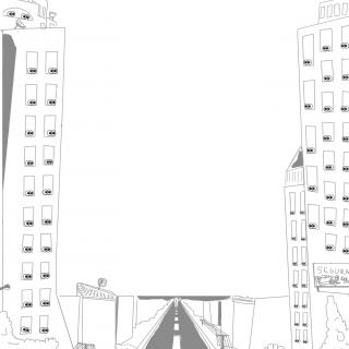 ilustração rua com olhos