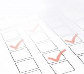 Close-up of a customer feedback form