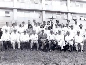 Docentes do Departamento de Clínica Médica, 1994, na comemoração de 40 anos do departamento