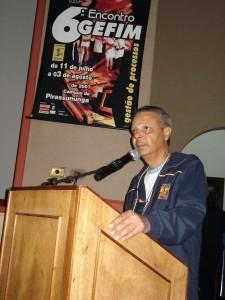 Teixeira em participação no 6º Encontro Gefim, que aconteceu em 2007