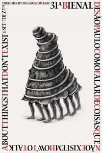 O cartaz de divulgação da Bienal de São Paulo contém desenho do indiano Prabhakar Pachpute, que também tem obras em exposição. Crédtio: Prabhakar Pachpute/divulgação Fundação Bienal