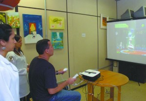 """""""Não tinha feito outros tipos de fisioterapia por causa do meu quadro"""", conta Edson Rodrigues da Silva, que realiza tratamento com videogames no Fofito"""