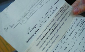 Manuscrito de A Natureza do Espaço, livro do geógrafo Milton Santos