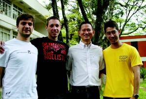 Da esquerda para a direita: Gabriel Giancristofaro, Sibelius Seraphini, Jó Ueyama e Leandro Alves